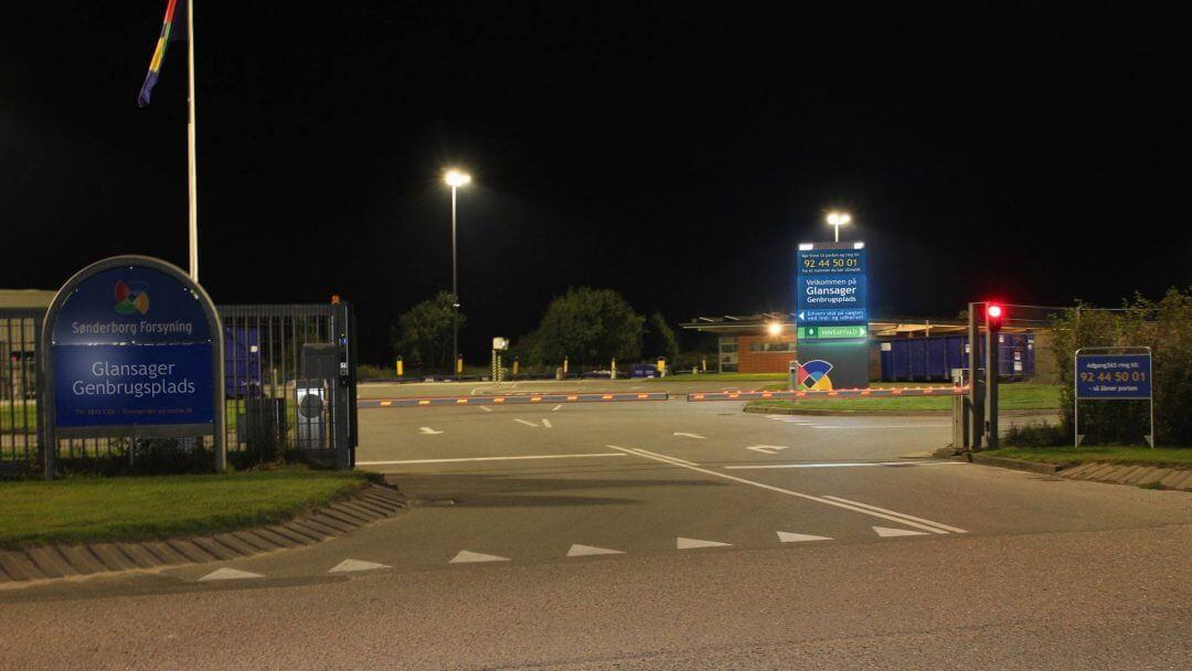 Glansager Genbrugsplads, Døgnåbent, Adgang365