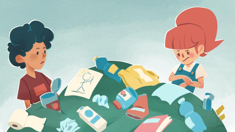 Affaldssortering i børnehøjde